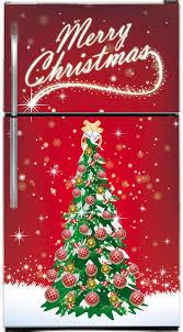 Christmas Tree Magnet Fridge Skin Cover Size 36 X 65