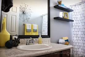 Teal Bathroom Wall Decor by Prepossessing 60 Yellow And Gray Bathroom Wall Decor Design