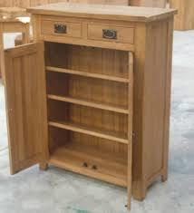 Rustic Style Oak Wooden Shoe Rack Ad30