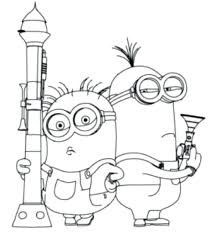 Despicable Coloring Pages Me 2 Minion Page Games Vector Full Size