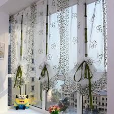 vorhänge für wohnzimmer drucken stickerei römischen vorhang voile gardinen für badezimmer küche balkon jalousien wohnzimmer 1 stück