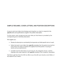 Sample Cover Letter For Resume General Counsel Position Best