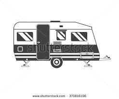 Traveler Truck Camper Outline Icon In Thin Line Design Vector