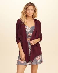 hollister hooded non closure blanket cardigan lyst