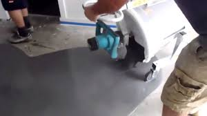 mixing pouring ardex self leveling concrete youtube