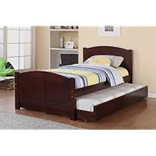 Amazon Poundex Twin Bed with Trundle Kitchen & Dining