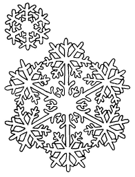 Snowflake Coloring Pages Free Printable For Kids Line Drawings