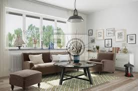 fototapete skandinavisches nordisches wohnzimmer mit einem sofa sessel