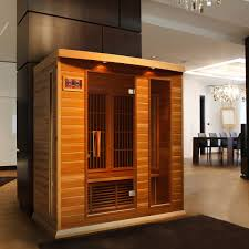dynamic saunas bordeaux 3 person canadian red cedar far infrared sauna