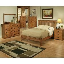 Mission Oak Rake Bedroom Suite Queen Size