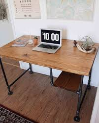 Rustic Pallet And Pipe Desk Industrial Reviveries Roomsfurniture Stup With Steel Legs My Diyus