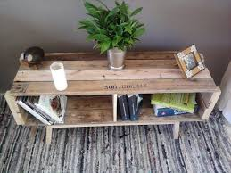 Pallet Retro Coffee Table With Shelf Underneath