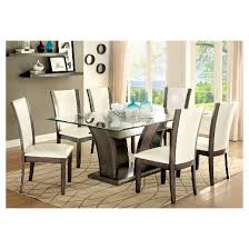 iohomes wright beveled glass dining table gray target