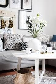 wohnzimmer mit deko im vintage boho look schön bei dir by