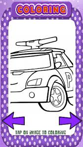 Free Police Car And Patrol Coloring Book Game
