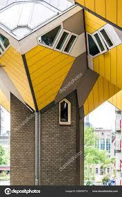 100 Cube House Design Tilted Resting Hexagon Shaped Pylon Rotterdam