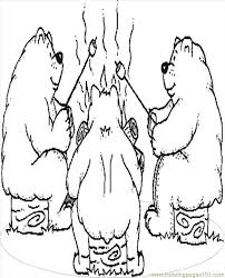 Bears Camping Coloring Page