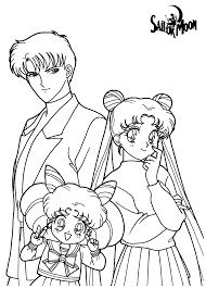 Sailor Moon Color Page Cartoon Characters Coloring Pages Best Of
