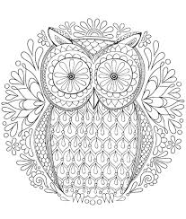 Owl Coloring Pages For Adults Hard