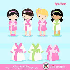 Girls Spa Party Clipart