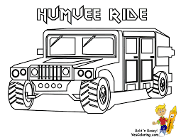 Army Coloring Page Of Humvee Truck At YesColoring Add This Rugged Military Vehicle To Your