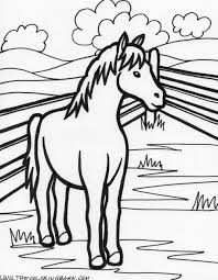 Farm Animals Clipart Coloring Pages 1