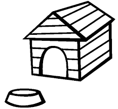 Dog House Coloring Page 19 Amazing And Food Bowl Pages