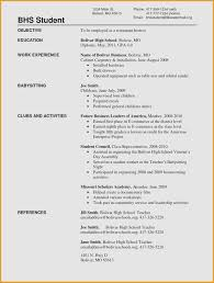 Examples Of Resumes For Highschool Students With No Work Experience Awesome Resume Without Example Draft Roddyschrock