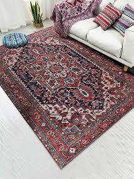 amerikanischen retro rot teppich wohnzimmer marokkanischen hause schlafzimmer teppich sofa teppich moderne boden matte persische teppiche und teppiche