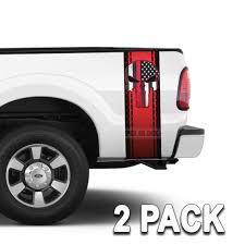 100 Diamond Plate Truck Bed Punisher Skull Red Stripes 2 Pack