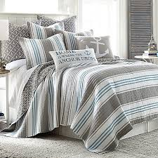 Provincetown Reversible Quilt in Grey Bed Bath & Beyond