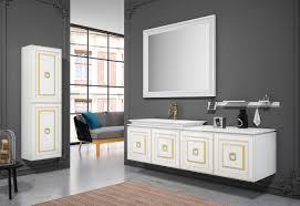 casa padrino luxus badezimmer set weiß gold 1 waschtisch mit waschbecken 1 wandspiegel 1 wandschrank luxus badezimmer möbel