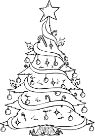 Free Christmas Tree Coloring Pages 243
