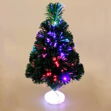 Cute Mini Christmas Tree 45cm Fiber Optic With Led Luminous Lanterns Emulation Decorations Without Battery Hot In Trees From Home Garden On