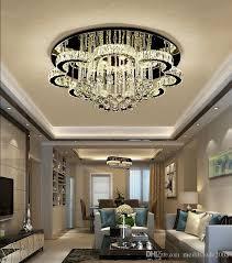 großhandel dimmen wohnzimmer le kristall le led deckenleuchte rundhalle einfache moderne suite schlafzimmer esszimmer atmosphäre