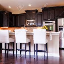 Kitchens With Dark Cabinets And Wood Floors by Kitchen Cute Kitchen Dark Wood Flooring Design With Hardwood