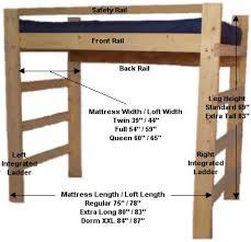 diy loft bed plans free college bed lofts basic loft bed