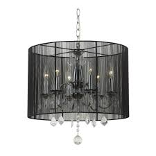 Chandeliers Design Awesome Zoom Chandelier With Drum Shade Black