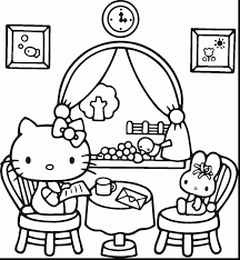 Surprising Hello Kitty Coloring Pages With And