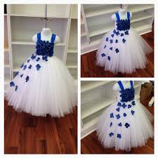 royal blue and white flower tutu dress by taylortylersmom
