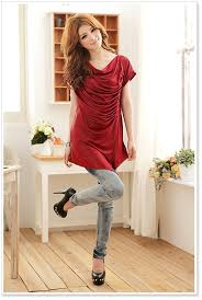 Asian Fashion Clothing Wholesale Jk Women Blouse K8126 Red