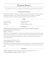 View Resume Additive Manufacturing Operator