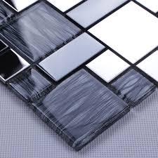 mosaic tiles random metal coating mosaics tiles mesh mounted tile