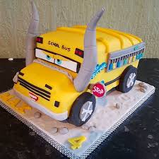 CARS 3 Miss Fritter birthday cake cars birthday