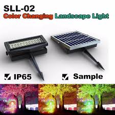 china beautiful led solar garden light color change rgb wall