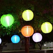 thrisdar 5pcs d30cm big lantern outdoor solar hanging ls