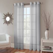 Bed Bath And Beyond Gray Sheer Curtains by Crushed Voile Grommet Top Sheer Window Curtain Panel Bed Bath