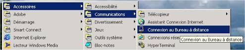 raccourci connexion bureau à distance installation de l affichage à distance du bureau xp