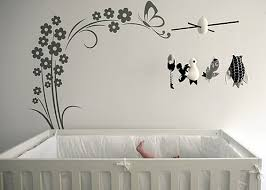 Bird Wall Decorative Decals Baby Black And White Grayscale Theme Effect Ncoclub Blogspot Best Large Designs