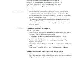Sample Warehouse Management Resume Distribution
